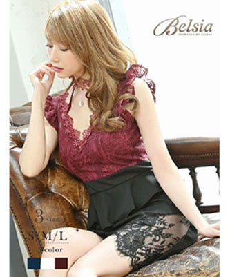 高級感のある生地を使ったBelsia高級ドレス