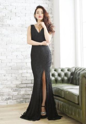 高身長に似合うドレス