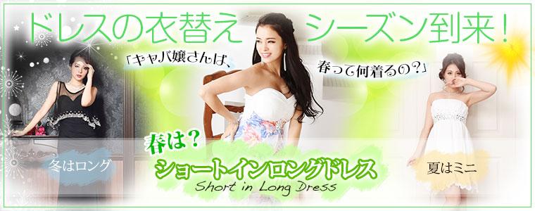 衣替えドレス 前ミニ ロング 春