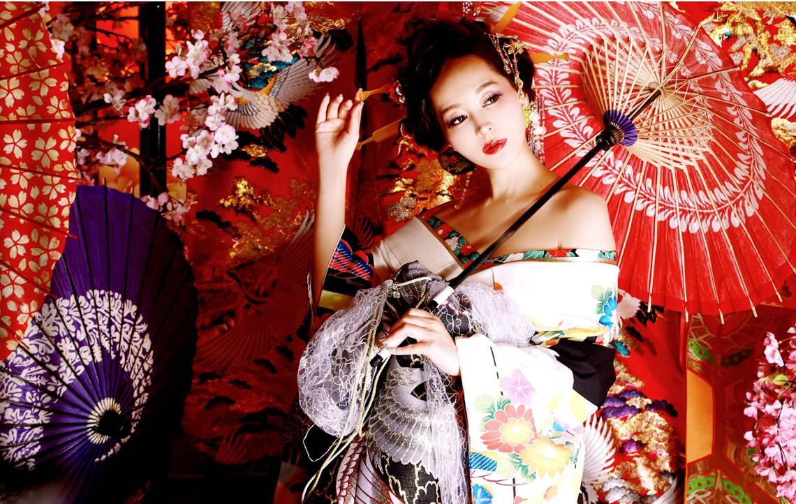 花魁着物 高級 フルコーデセット 本格着物 日本 和装 japanese kimono