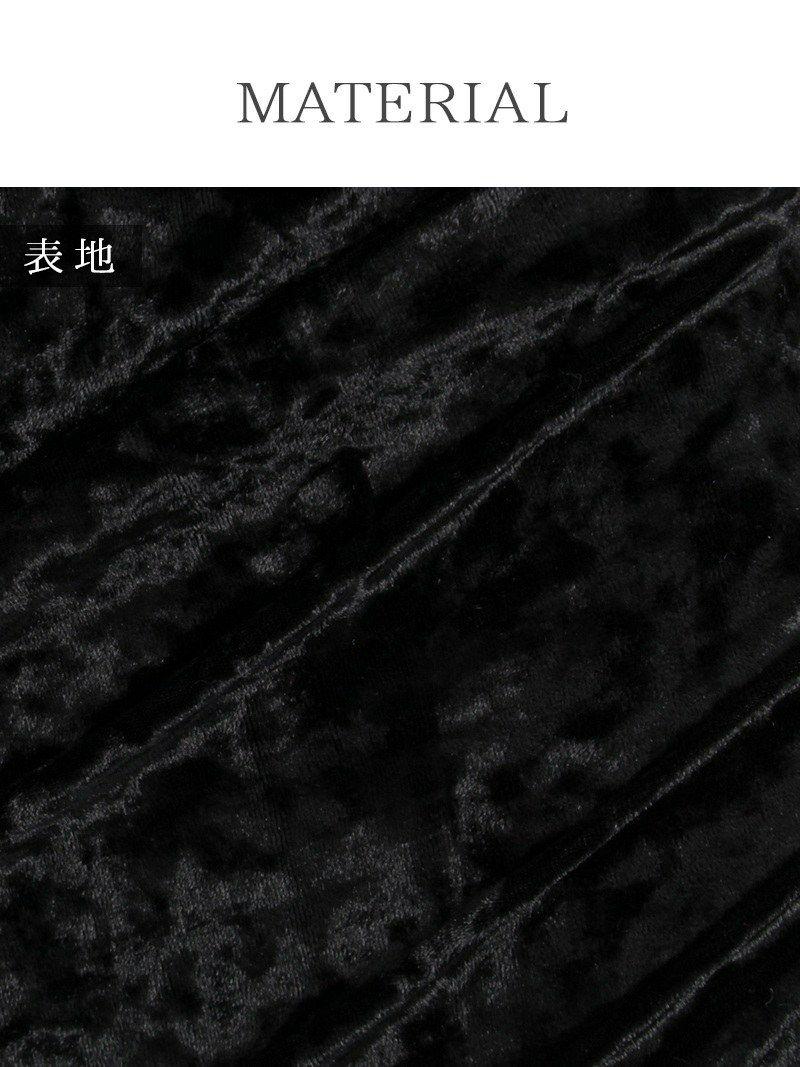 大人sexy!光沢ベロアgoldチェーンミニドレス【Ryuyu】【リューユ】ドレープカシュクールキャバクラドレス