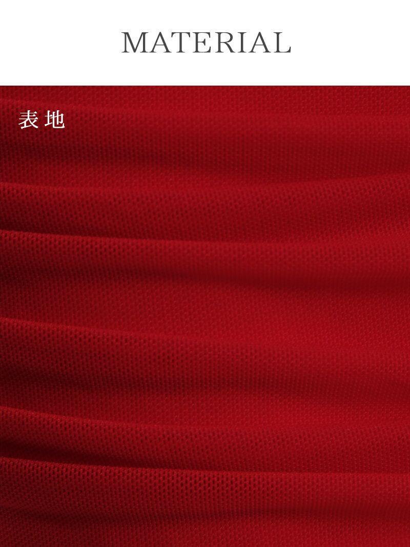 着心地○2way袖付ストレッチミニドレス【Ryuyu】【リューユ】ビジュー付きドレープキャバクラドレス