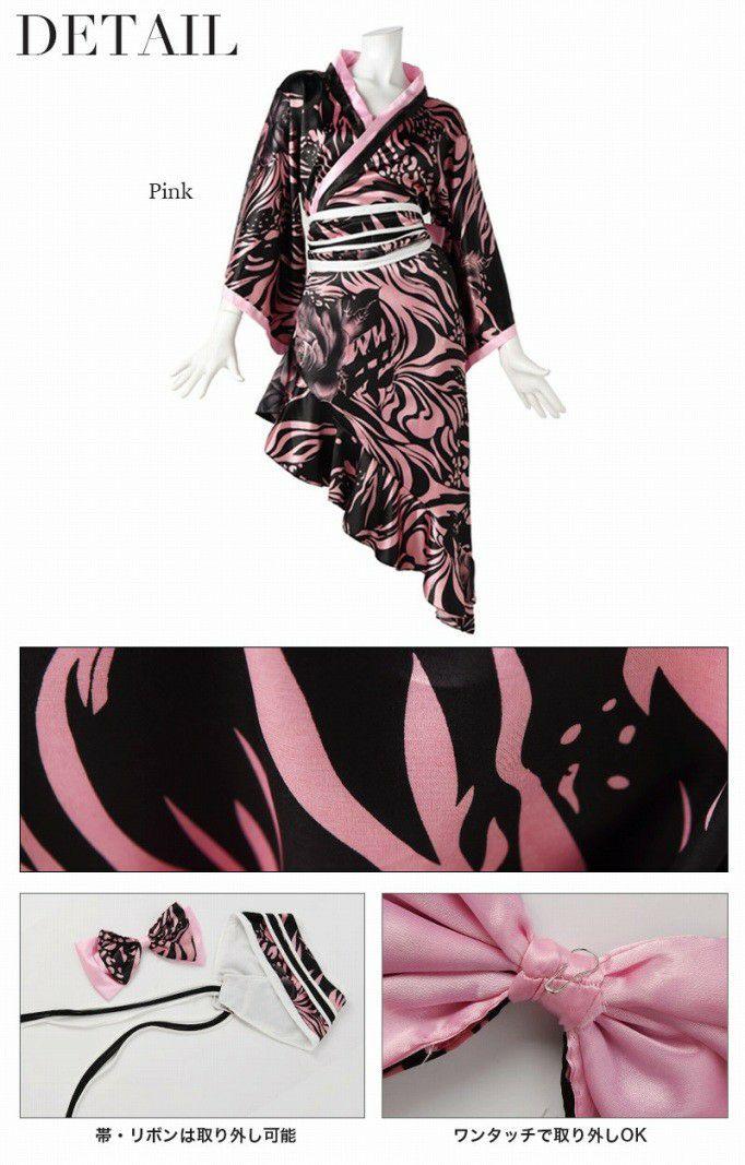 【流遊】 キャバ花魁!カスケードアシメ和柄着物ドレス 尾崎紗代子 着用ドレス【Ryuyu】【リューユ】キャバクラ和柄ロングドレス