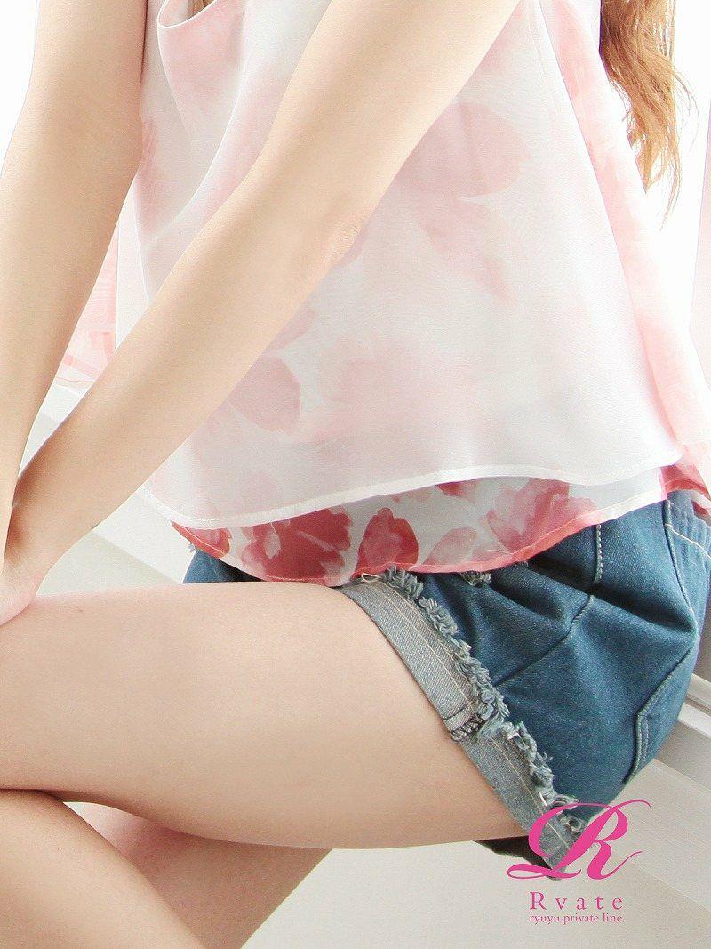 【Rvate】定番item!ダメージ加工ショート丈キャバデニム クラッシュデニムショートパンツ