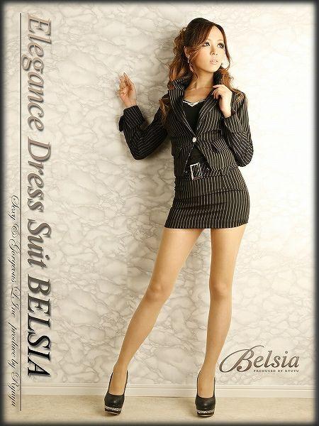【訳あり!アウトレット¥5980→¥5020】美sexyなマイクロミニ!背スピンドルminiストライプ柄キャバスーツ,式スーツ 女性 フォーマル