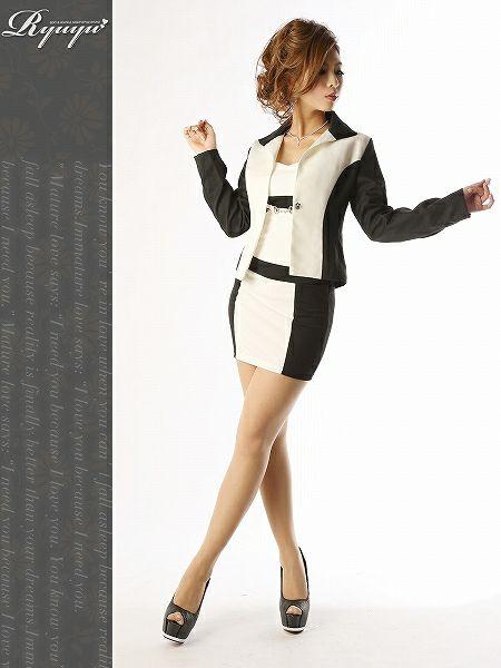 【訳あり!アウトレット¥5980→¥5020】ビビッド配色でsexyLADYなキャミワンピスーツ/ナイトキャバスーツ 式スーツ 女性 フォーマル