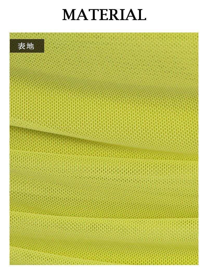 透けメッシュハイウエストミニドレス【Ryuyu】【リューユ】ストレッチ美ドレープキャバクラドレス