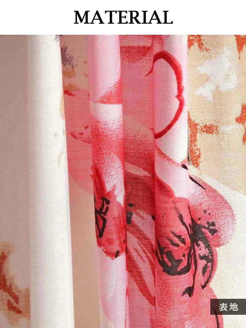 【Rvate】フリルオフショル花柄マキシ丈ワンピース ロング丈ワンピース