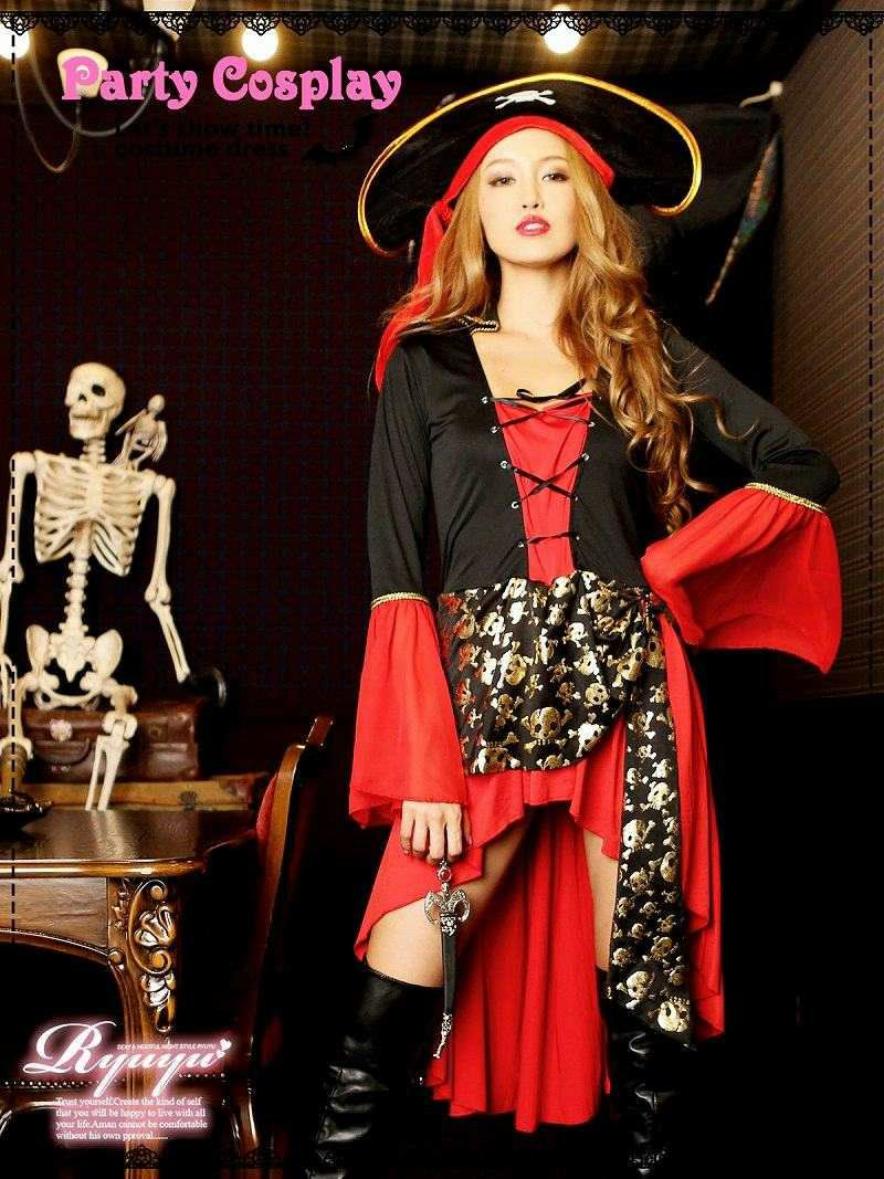 【即納】【キャバコスプレ3点セット】ladyパイレーツコスプレセット 海賊コスチューム イベントやハロウィンに♪