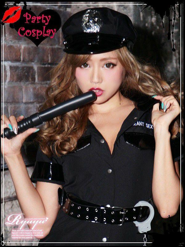 【即納】【キャバコスプレ!!】アメリカンポリス!大人セクシーな警察ポリスコスプレ5点SET
