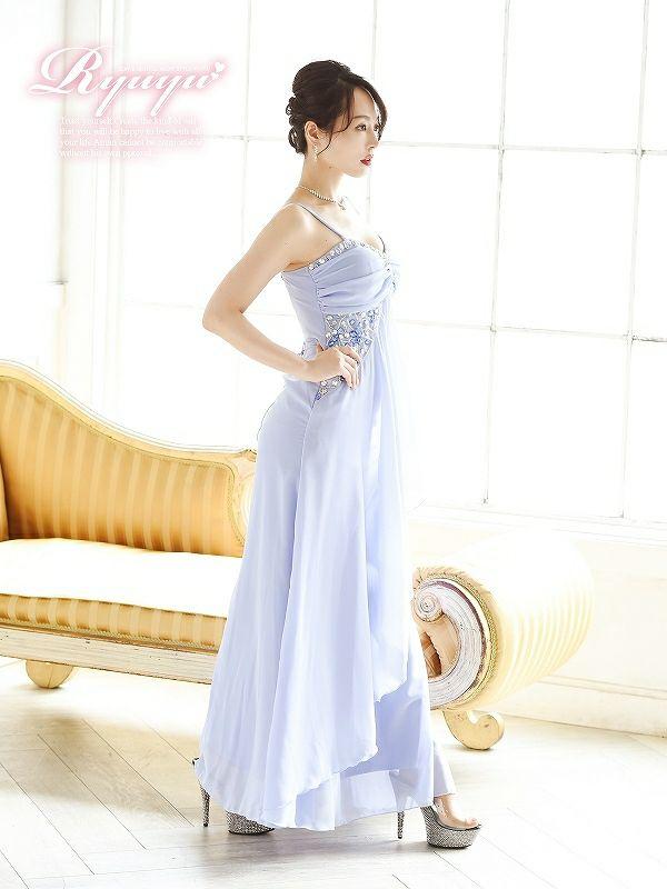 王妃princessふわシフォンキャバロングドレス ryuyu リューユ シフォンロングドレス