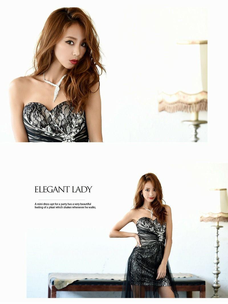 luxuryロングテール前ミニキャバロングドレス【Ryuyu】【リューユ】主役級キャバクラドレス