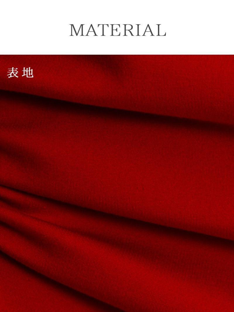 大人sexy!煌ストーン腹魅せミニドレス【Ryuyu】【リューユ】厚手ストレッチ長袖キャバクラドレス