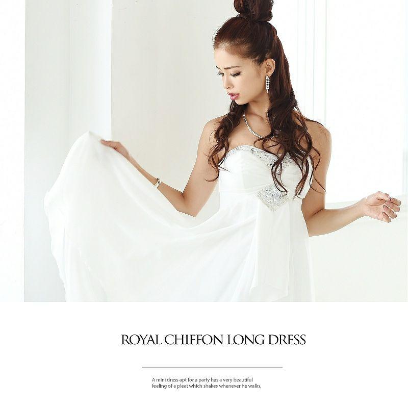 前ミニフェアリーキャバクラ◎ロングドレス♪ 尾崎紗代子 着用ロングドレス ryuyu リューユ 前ミニinテールカットシフォンロングドレス
