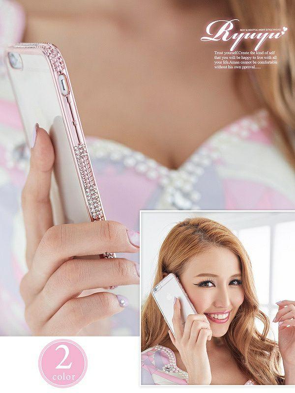 iPhone6/6s サイドjewelクリアスマホケース【Ryuyu】【リューユ】アイフォンケース iPhoneケース スマホカバー