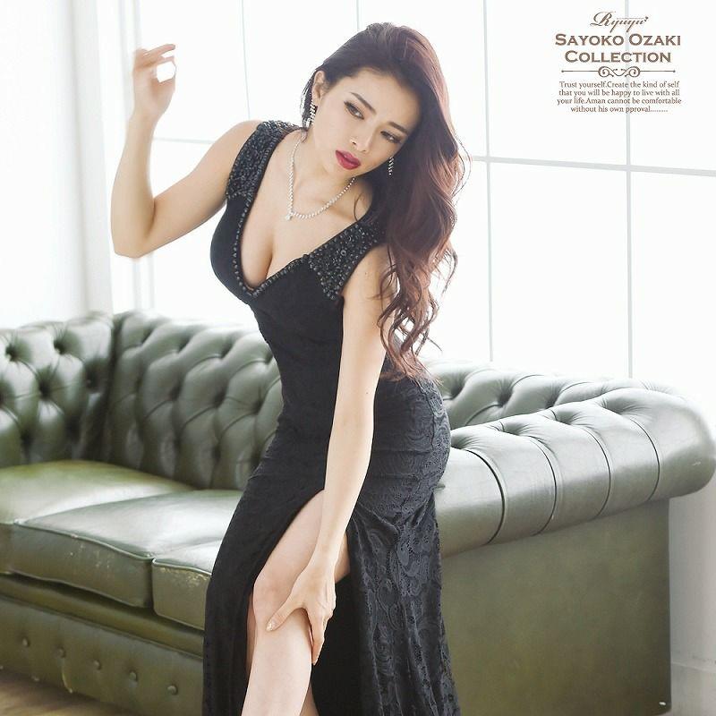 極美gorgeous総レースキャバロングドレス 尾崎紗代子 着用ロングドレス ryuyu リューユ マーメイドロングドレス