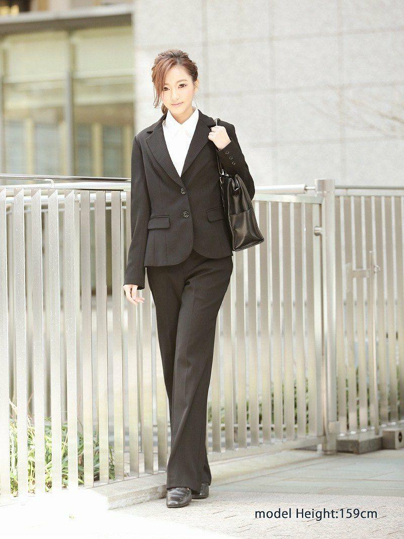 【卒キャバ&就活応援!!】知的魅せストライプ柄美リクルートスーツ【Ryuyu】【リューユ】洗えるレディーススーツ4点セット