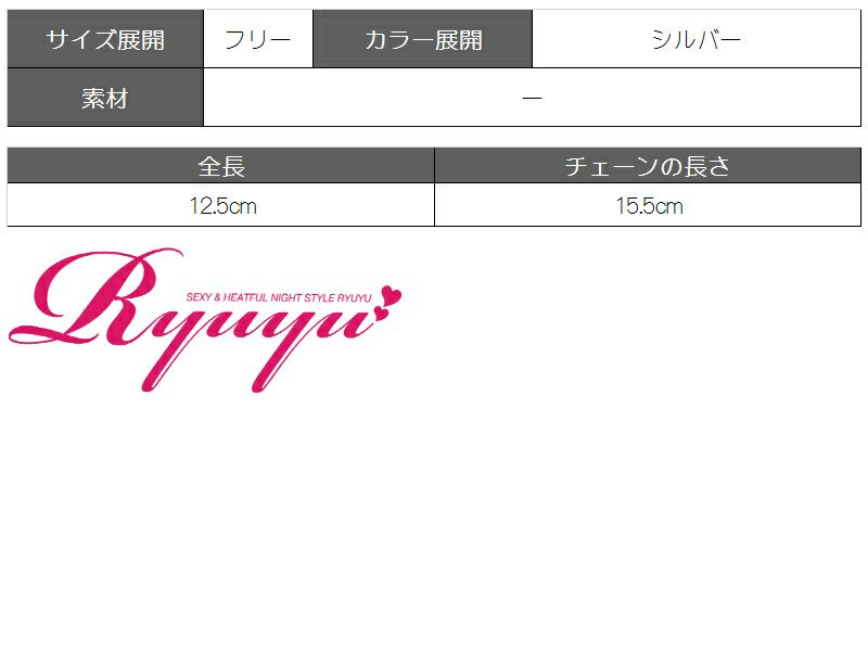 タッセル風チェーンメタルチョーカー【Ryuyu】【リューユ】シルバーチェーンネックレス