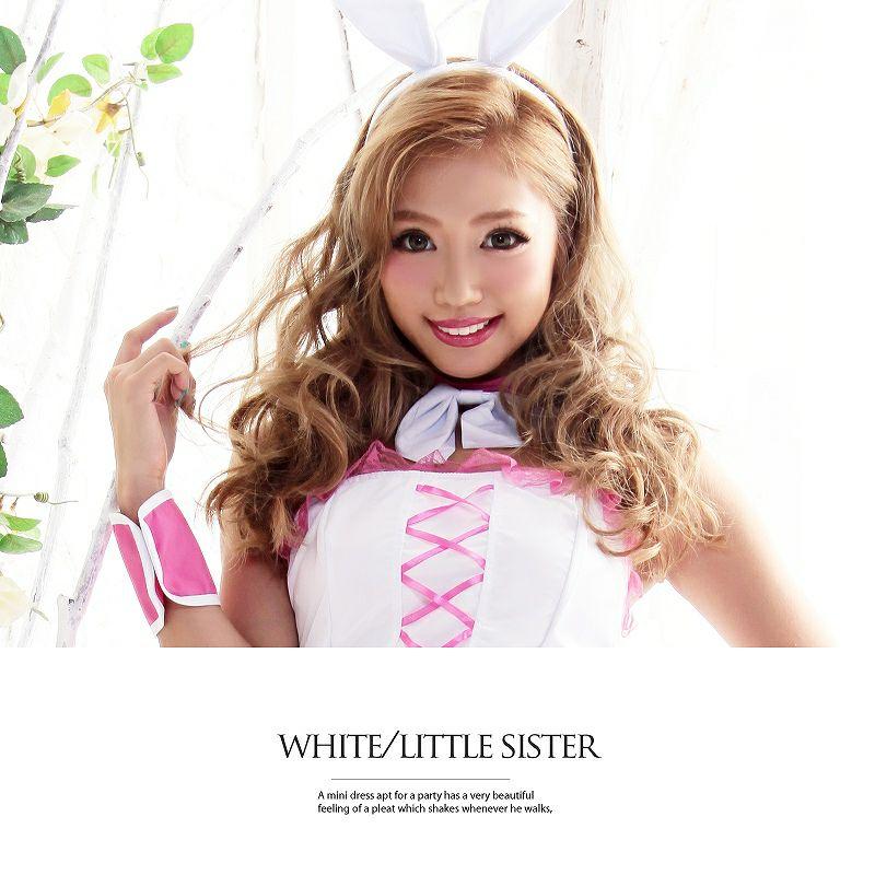 【即納】【キャバコスプレ!!】愛されバニー!うさ耳cuteな白【Ryuyu】バニーガールコスプレ6点SET