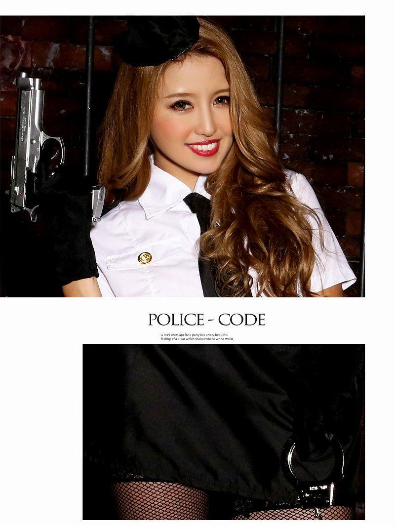 【即納】【キャバコスプレ6点セット】sexyポリスコスプレセット 警察官仮装 イベントやハロウィンに♪