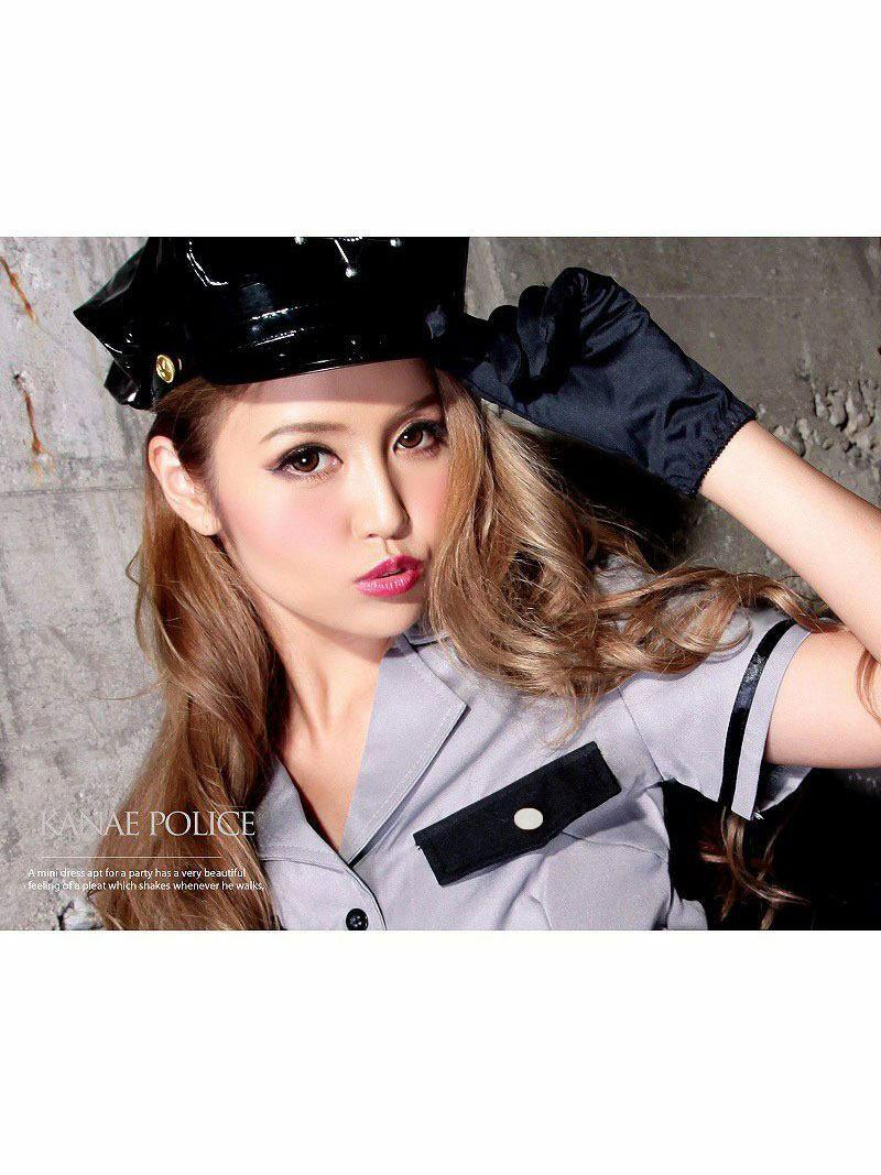 【キャバコスプレ!!】ミリタリーポリス!希少なグレーアーミー警官ポリスコスプレ4点SET