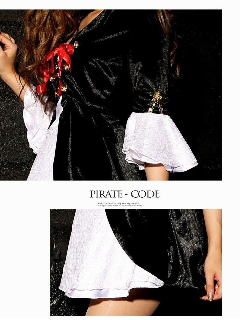 【即納】【キャバコスプレ2点セット】SEXYパイレーツコスプレセット 丸山慧子 着用 海賊コスチューム イベントやハロウィンに♪