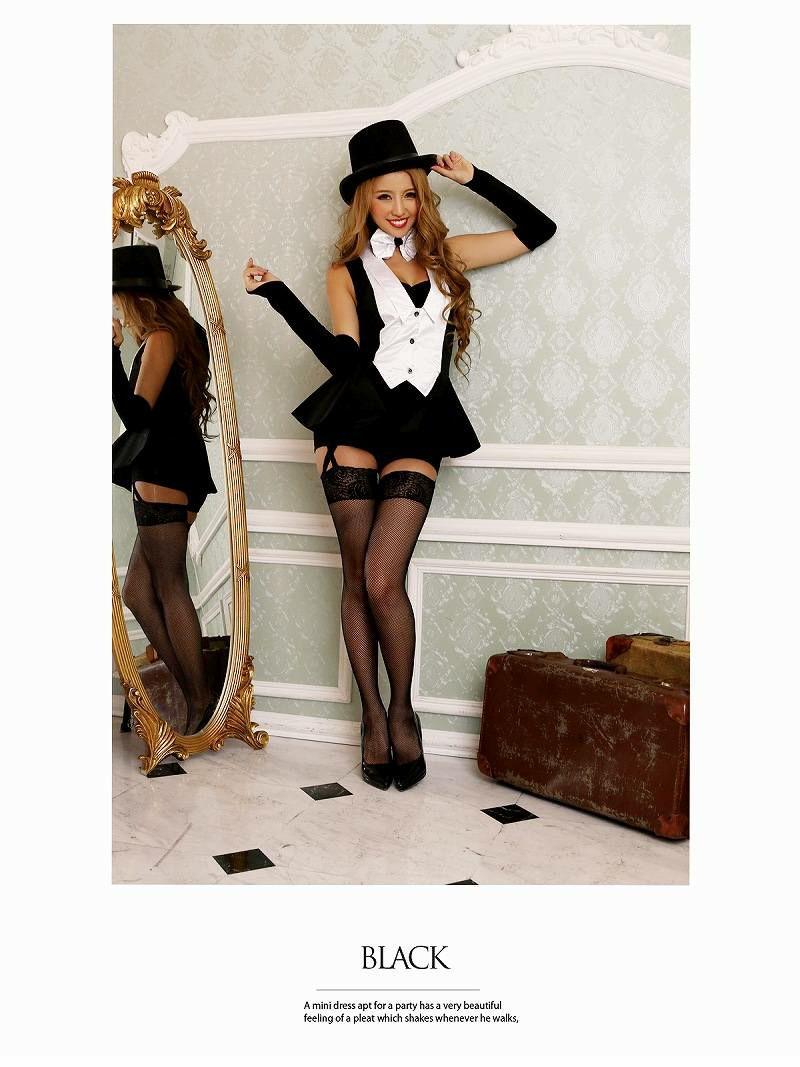 【即納】【キャバコスプレ4点セット】sexyマジシャンコスプレセット 手品師コスチューム イベントやハロウィンに♪