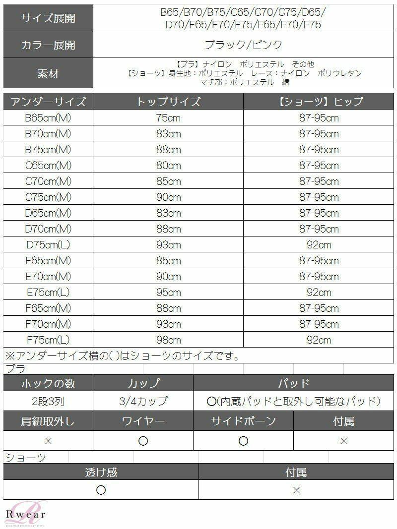 【Rwear】総レースブラ&ショーツセット【Ryuyu】【リューユ】OEO 単色レディース下着2点セット【2点で3900円対象】