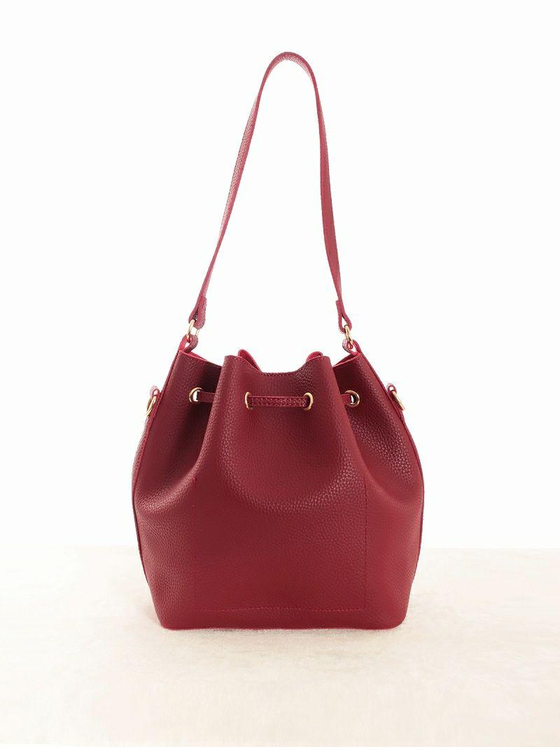 【Rvate】2WAYファーポケット付きショルダーバッグ タッセル付き巾着型バッグ