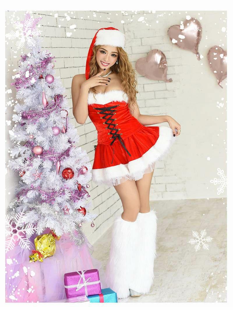 【即納】【サンタコスプレ3点set】ベアスピンドルフレア2pサンタコスプレ  キャバクライベントやクリスマスパーティーにオトコ受け◎