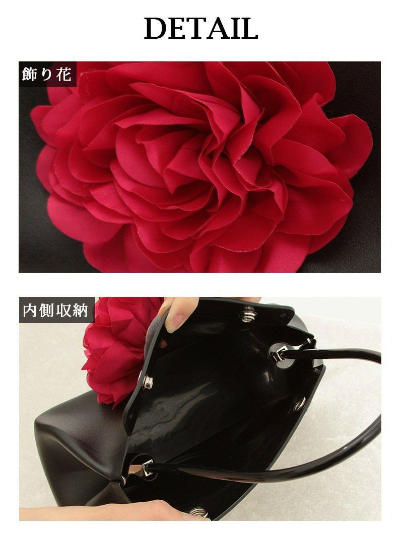 キャバクラ店内ok!立体flowerモチーフミニハンドバッグ【Ryuyuchick】【リューユチック】結婚式やパーティーにも◎