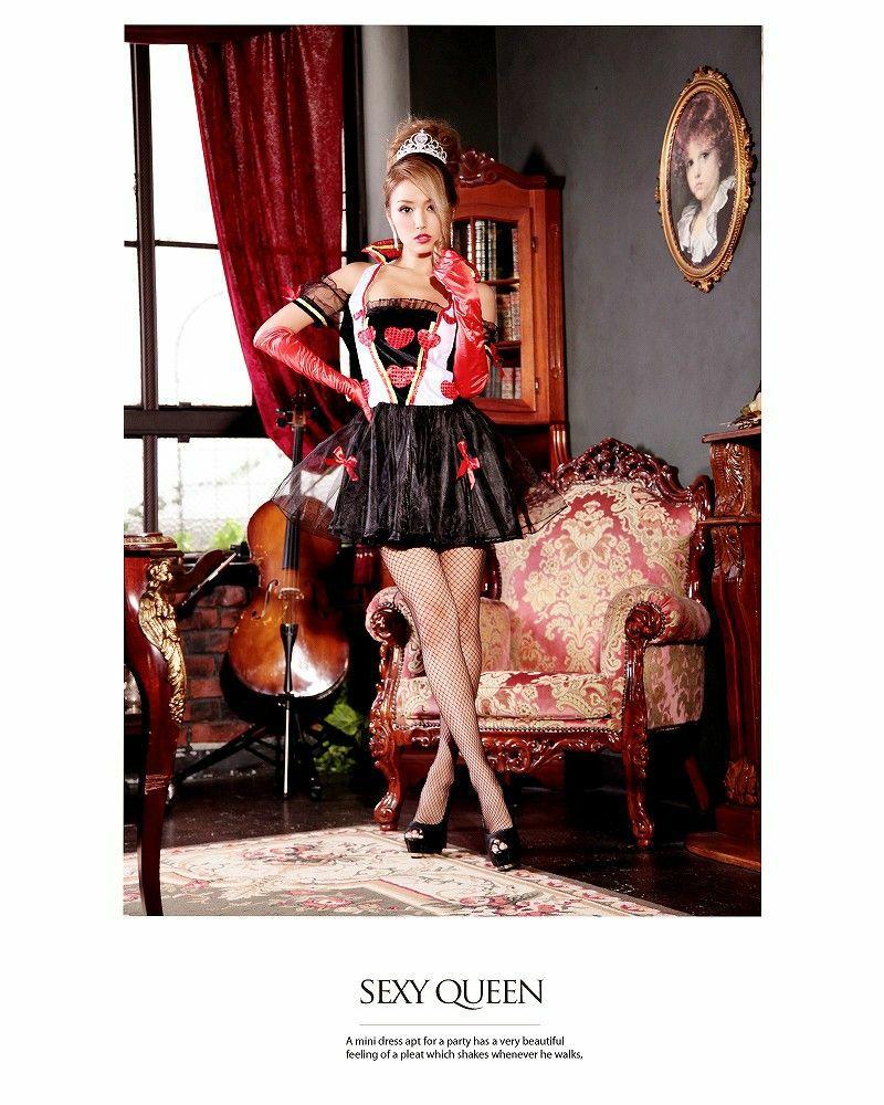 【即納】【キャバコスプレ!!】ハートの女王!不思議の国のアリス ガーリーなトランプクイーンコスプレ3点SET
