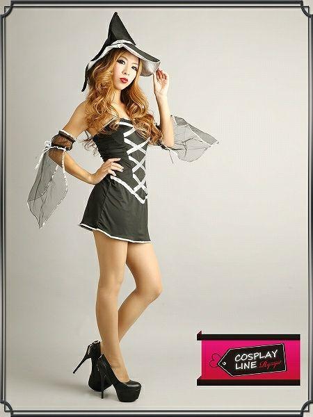 【即納】【キャバコスプレ!!】美魔女なエロsexyブラック魔女!コスプレワンピセット