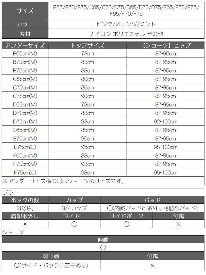 サテンレース OEO ブラ&ショーツセット【Rwear/アールウェア】(ピンク/オレンジ/ミント)【2点で3900円対象】