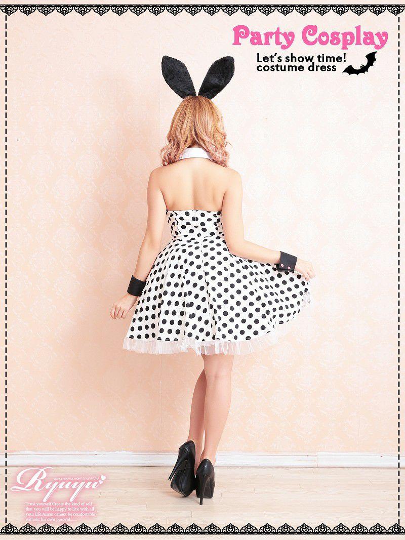 【即納】【キャバコスプレ5点セット】手軽に仮装♪バニーガールコスプレ小物セット 手持ちのドレスに合わせてイベントやハロウィンに♪