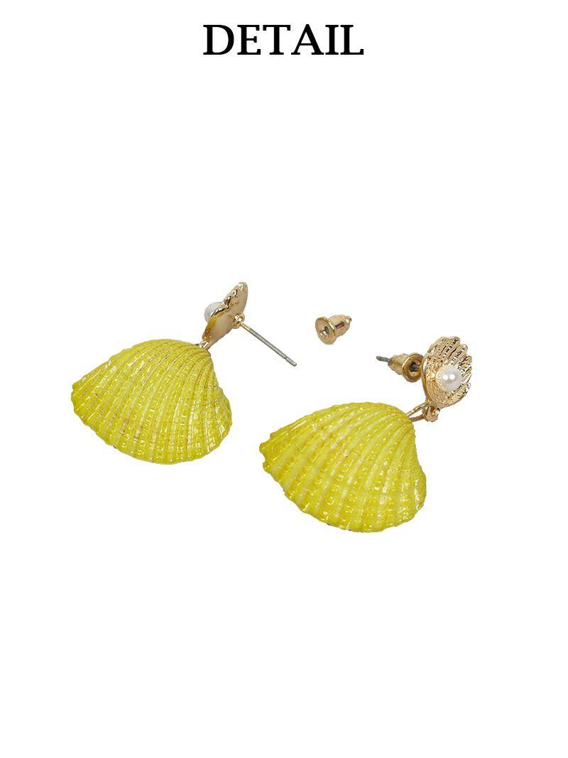 【メール便対応】【Rvate】貝殻モチーフピアス 小ぶりゴールドシェルアクセサリー