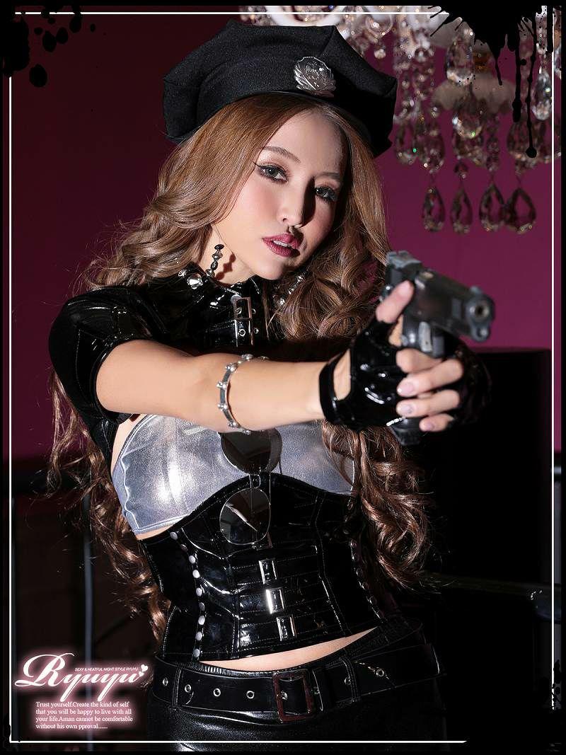 【即納】【キャバコスプレ11点セット】ミニスカsexyポリスキャバコスプレ 定番!!sexy警官ハロウィン仮装イベントやハロウィンに♪