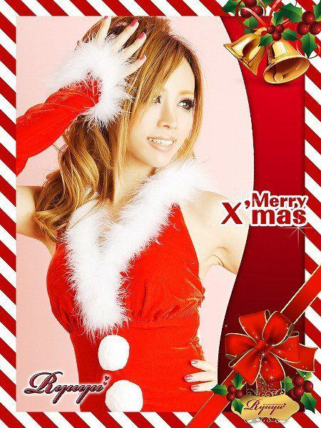 【即納】 【サンタコスプレ3点セット】3点set!ふわヒラファーパーカーサンタワンピ キャバクライベントやクリスマスパーティーに◎