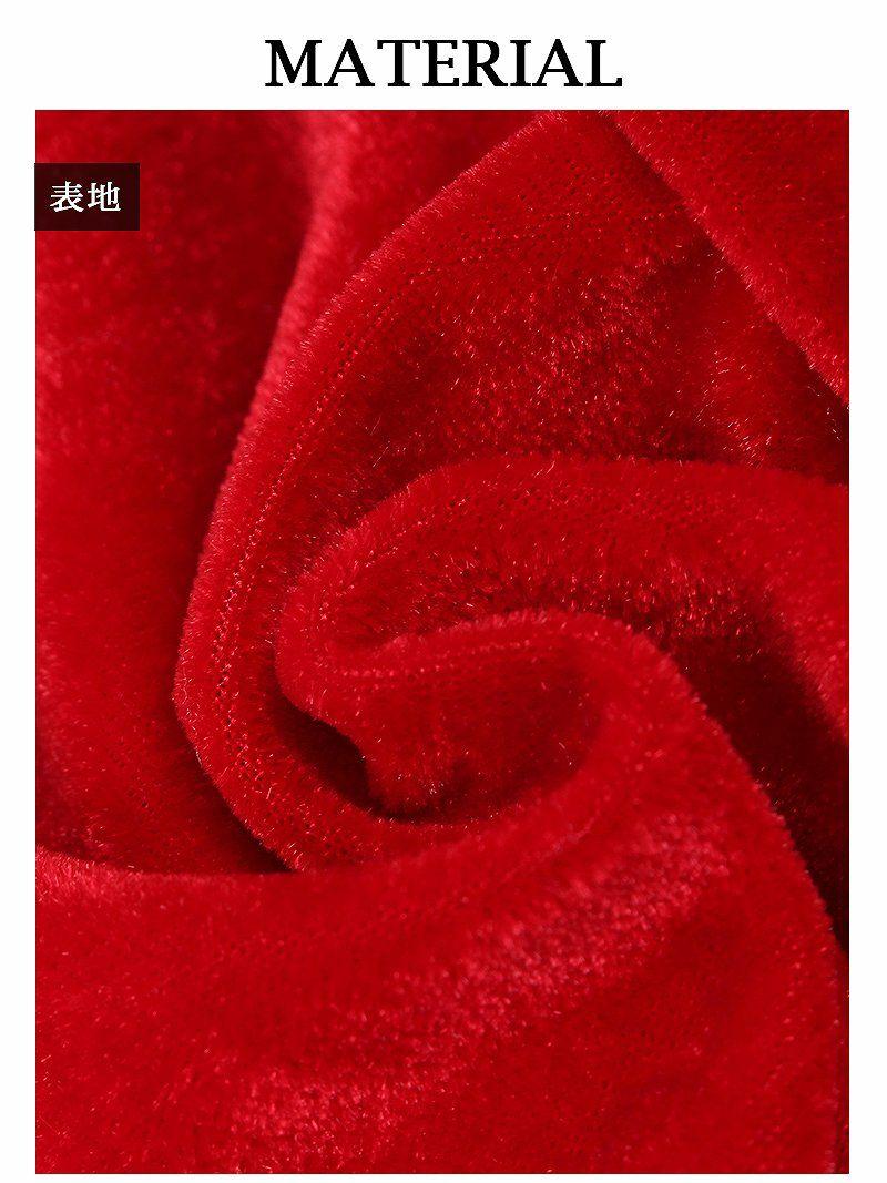 【即納】赤ポンポン美脚レッグウォーマー ワンランク上のサンタコスプレに◎