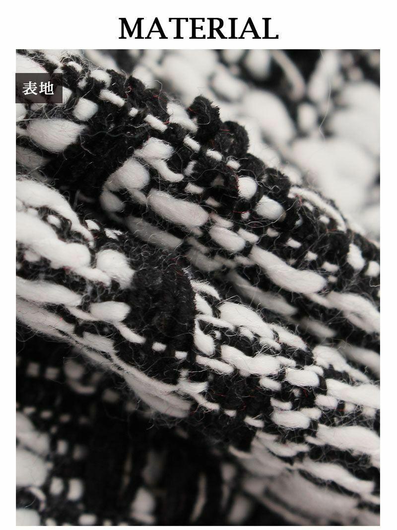 夏SALE¥6280→¥3768! リボンブローチ付きツイードキャバクラドレス ゆきぽよ 着用キャバドレス【Ryuyu】【リューユ】フリル袖チェック柄タイトミニドレス