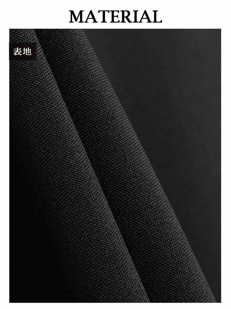 結婚式・お呼ばれに!ツイードライン黒フレアスカートミニ丈キャバスーツ【Ryuyuchick】【リューユチック】スクエアネックセットアップスーツ