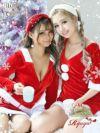 【即納】【サンタコスプレ3点セット】ルームウェア風長袖パーカー&スカートおうちサンタ小田愛実 着用キャバサンタカジュアルミニ丈セットアップ キャバクライベントやクリスマスパーティーに◎