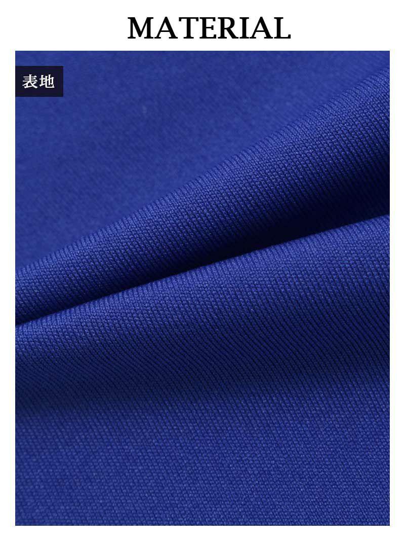 お腹魅せワンショル深スリットタイトキャバクラドレス【Ryuyuchick/リューユチック】(M/L)(ブラック/レッド/ブルー)