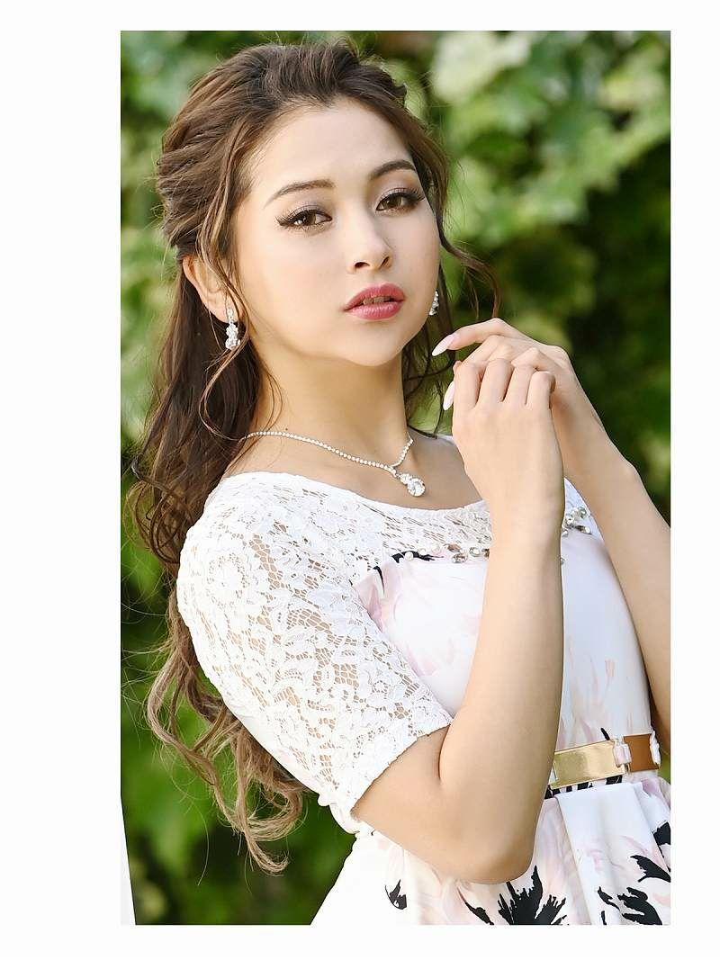ゴールドバックルペプラム花柄ミニドレス RIRI ゆきぽよ 着用キャバドレス【Ryuyu/リューユ】