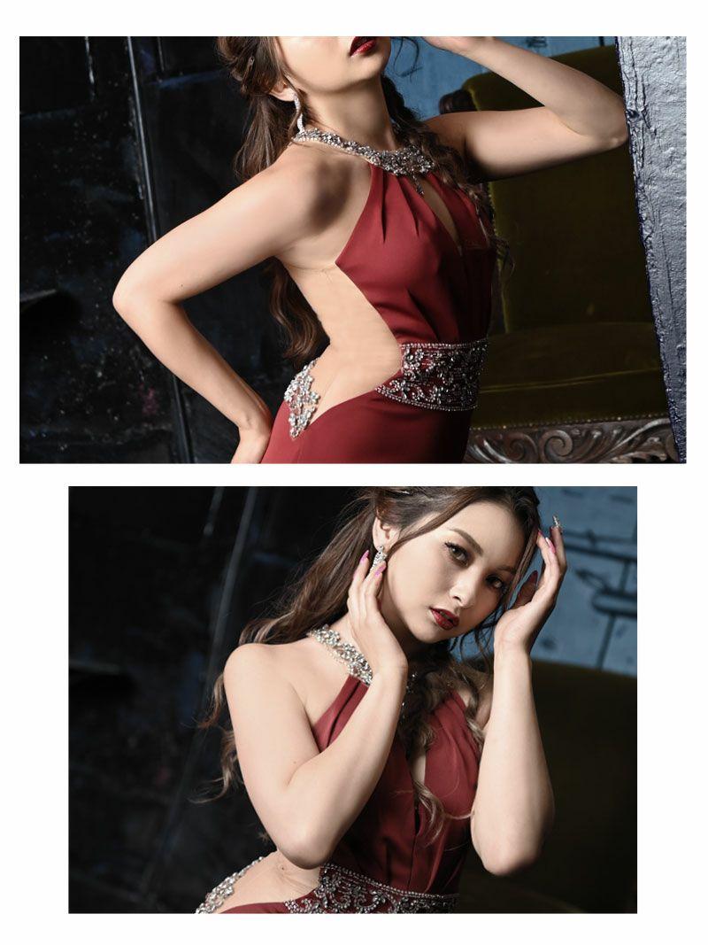 【Angel R/エンジェルアール】ウエストビジューバストカットミニドレス ゆきぽよ みりちゃむ 着用キャバクラドレス