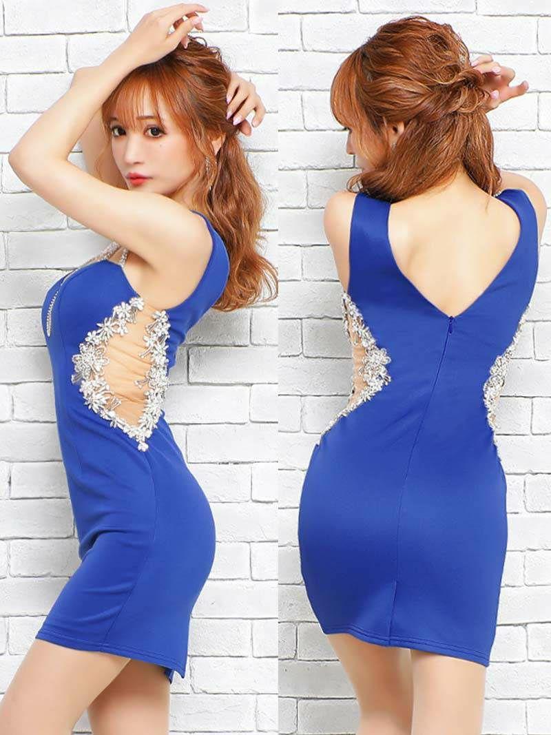 【Angel R/エンジェルアール】ショルダービジューノースリーブミニドレス ゆきぽよ 着用キャバクラドレス