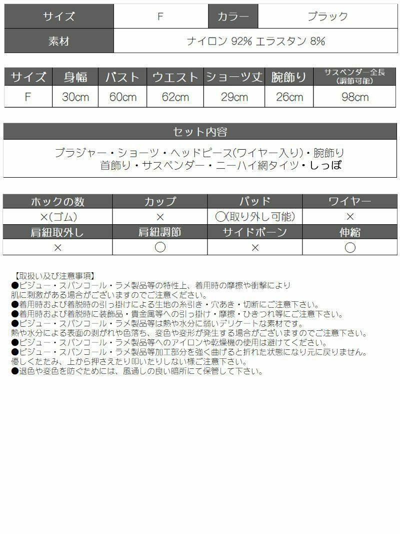 【即納】ハロウィンレース×スピンドルバニーガールランジェリー RiRi 着用レディースコスプレ8点セット